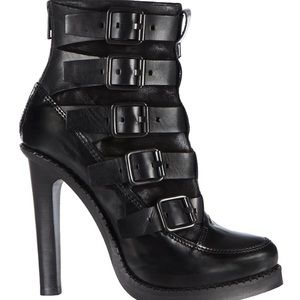 All Saints Black Widow Buckle Boots